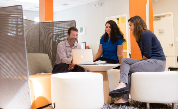 Our office features several lounge areas to encourage open collaboration & interaction.